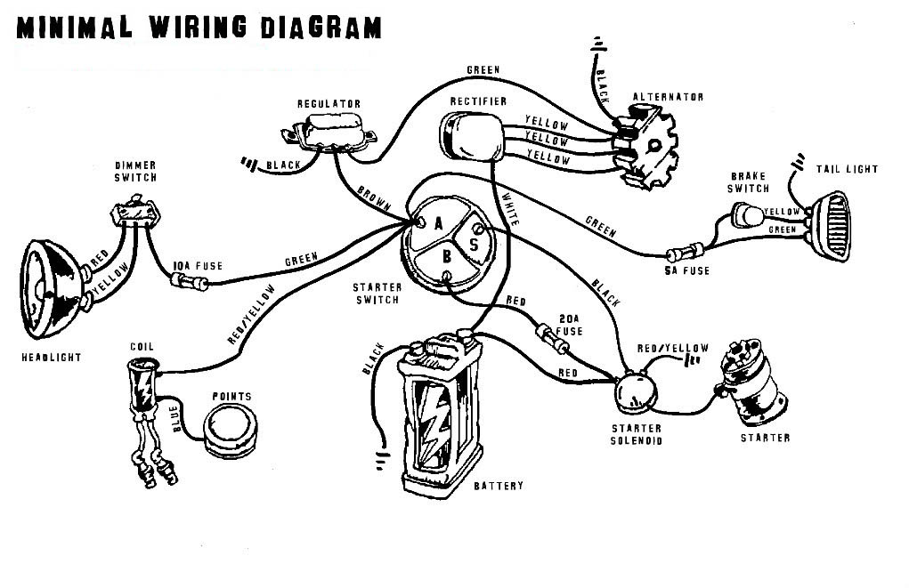 Café Racer Wiring - BikeBrewers.com on harley solenoid diagram, harley primary drive diagram, harley wiring schematics, harley starter motor, harley throttle body diagram, harley relay diagram, harley charging system diagram, harley ignition diagram, ignition starter switch diagram, harley transmission diagram, harley jackshaft diagram, harley starter drive diagram, harley electrical diagram, harley starter relay, harley starter solenoid, harley starter exploded view of, harley starter removal, harley starter cover, harley wiring diagrams pdf, harley starter clutch,