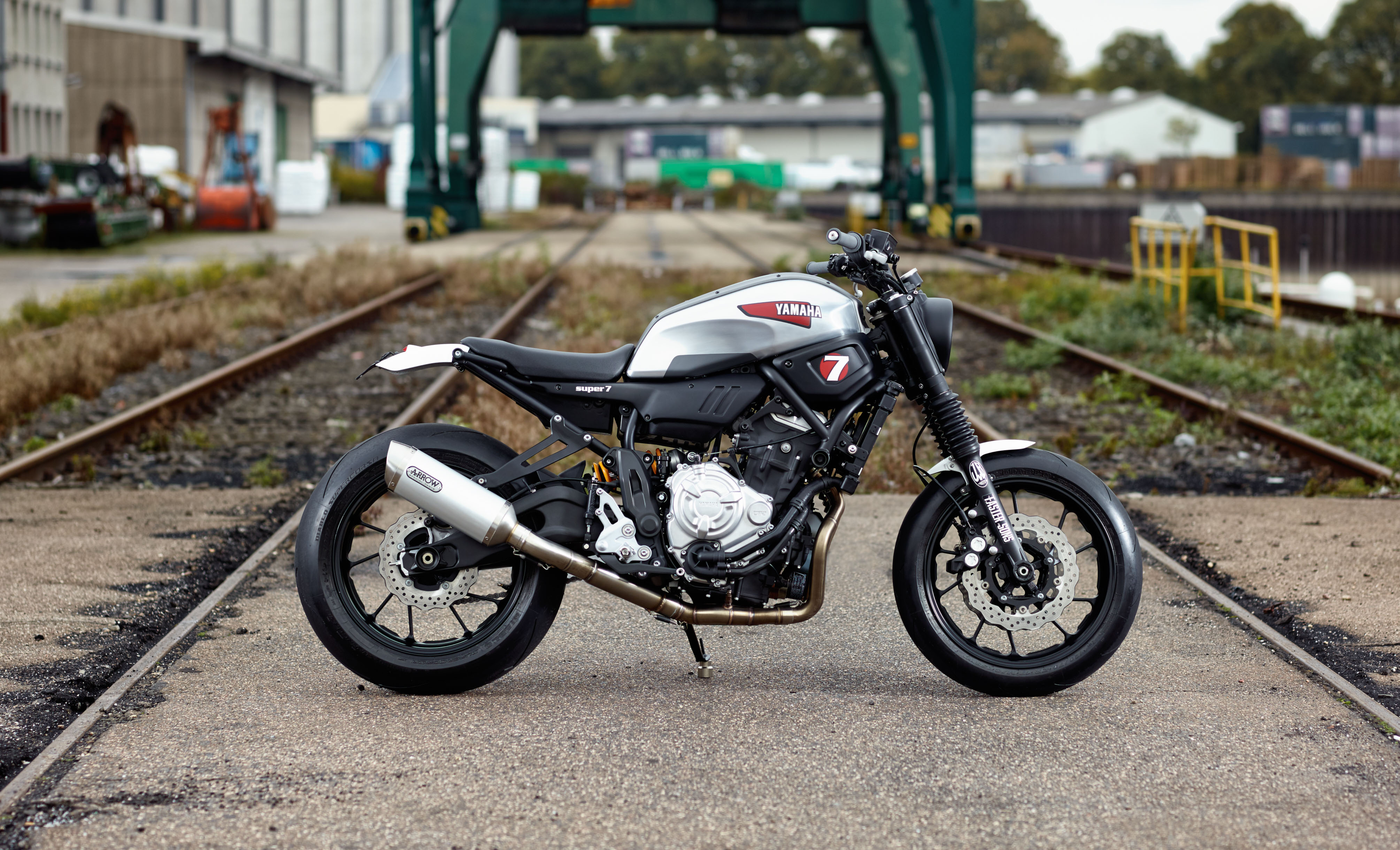 The base bike was a 1980 xs650 in a very poor state cylinders where - Yamaha Xsr700 Scrambler