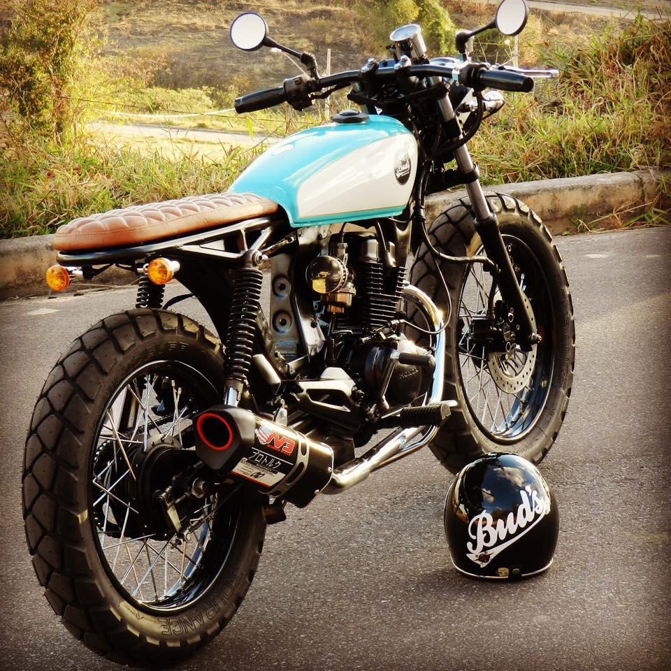 Honda Cg150 Bratstyle By Buds Motorcycles on honda cb550 battery