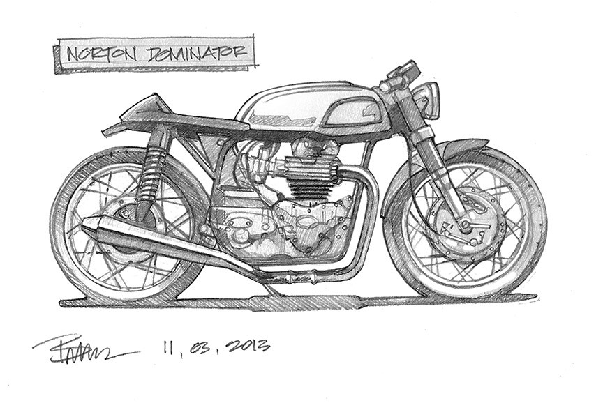 8 step caf racer building plan bikebrewers cafe racer drawing malvernweather Image collections