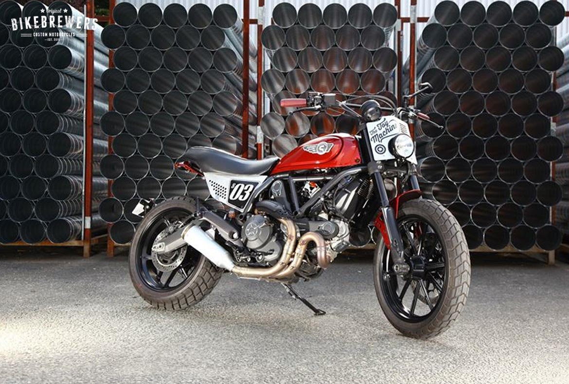 """The Toy Machine"" a Ducati Scrambler by Creativ Garage"