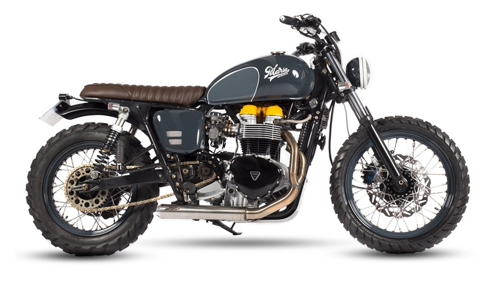 triumph bonneville scrambler by maria riding company. Black Bedroom Furniture Sets. Home Design Ideas