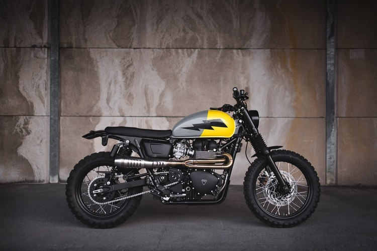 Triumph Scrambler By Injustice Customs Bikebrewerscom