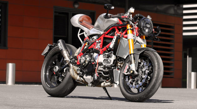 A Ducati 1198 S Corse Café Racer built by Radical Ducati in France