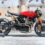 Cafe Racer in Red: a Yamaha TR1 by Jerem Motorcycles
